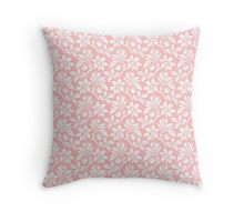 Light Pink Vintage Wallpaper Style Flower Patterns Throw Pillow