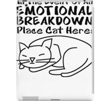 Emotional Breakdown Place Cat Here iPad Case/Skin