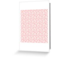 Light Pink Vintage Wallpaper Style Flower Patterns Greeting Card