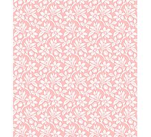 Light Pink Vintage Wallpaper Style Flower Patterns Photographic Print