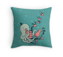Tea and Tentacles Throw Pillow