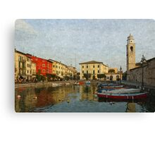 Coloured lake Canvas Print
