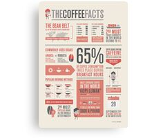 THE COFFEE FACTS – Infographic Poster Canvas Print