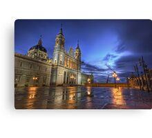 Blue Hour @ Almudena's Cathedral #3 Canvas Print