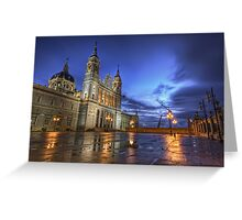 Blue Hour @ Almudena's Cathedral #3 Greeting Card