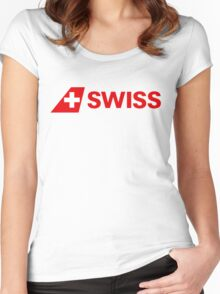 Swiss Int'l Air Lines Women's Fitted Scoop T-Shirt