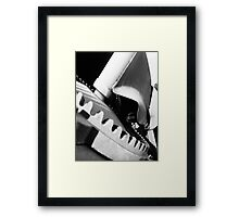 The cement mixer Framed Print