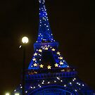 Tour Eiffel by night in 2008. Paris by Reneefroggy