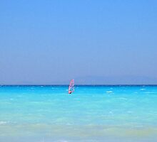 Windsurfer - Rhodes Island, Greece by suellewellyn