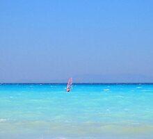 Windsurfer - Rhodes Island, Greece by suellewellyn