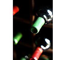 Wine bottles Photographic Print