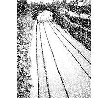 A snowy railway bridge, Trowbridge Photographic Print
