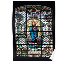 Votive Stained Glass Window Poster
