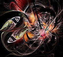 Fractal Zodiac - Pisces by Ann Garrett