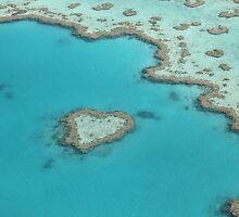 Heart Reef - Whitsundays by JoeJoeInc