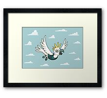 Sulphur Crested Cockatoo in a singlet Framed Print