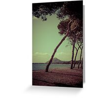 Leaning with the wind Greeting Card