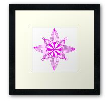 simple star neon pink Framed Print
