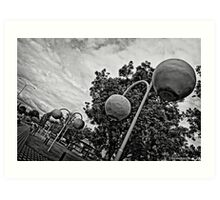 Donnybrook in Black and White Art Print