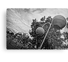 Donnybrook in Black and White Metal Print