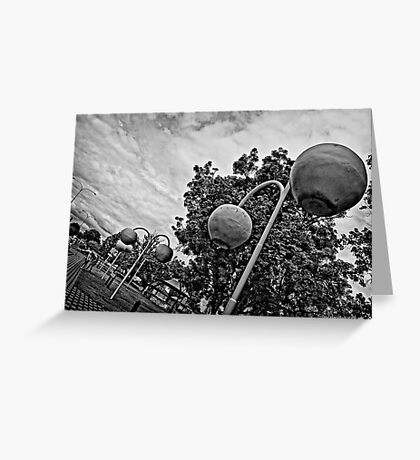Donnybrook in Black and White Greeting Card