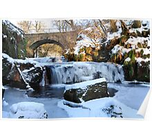 Frozen Waterfall,Kilsyth,Scotland Poster