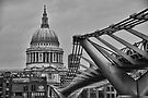 St Paul's Cathedral and Millennium Bridge by DonDavisUK