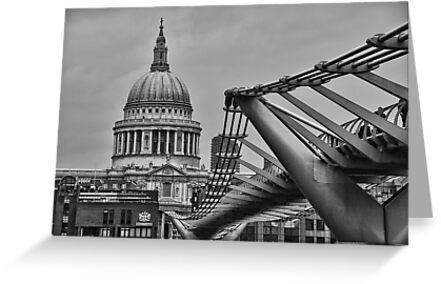 St Paul's Cathedral and Millennium Bridge by DonDavisUK