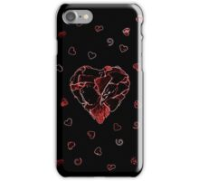 Red and black heart iPhone Case/Skin
