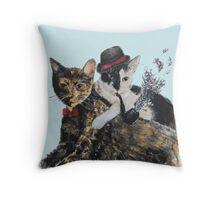 Gangsta Cats Throw Pillow