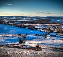 Wolfe Hill in Winter by C David Cook