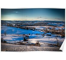 Wolfe Hill in Winter Poster