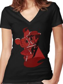 Blood Moon Waltz Women's Fitted V-Neck T-Shirt