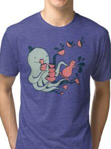 Tea and Tentacles Tri-blend T-Shirt