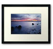 End of day at Alki Beach Framed Print