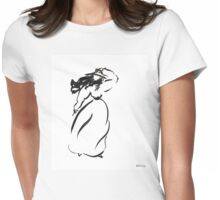 Girl on the wind Womens Fitted T-Shirt