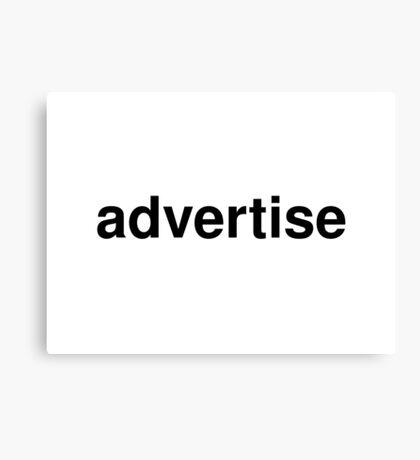 advertise Canvas Print