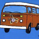 Orange VW camper by vschmidt