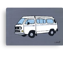 White VW Camper Canvas Print