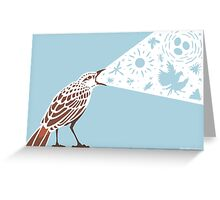 Rufous Songlark Sings Greeting Card