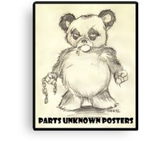 Parts Unknown Posters 'Rumble Bear' logo by Sehik Canvas Print