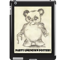 Parts Unknown Posters 'Rumble Bear' logo by Sehik iPad Case/Skin