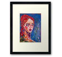 Angry girl, 2010 Framed Print