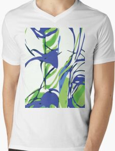 Abstract Splash Mens V-Neck T-Shirt