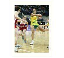 Netball. England v Australia 1 Art Print