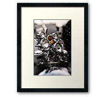 Shining Chrome Framed Print
