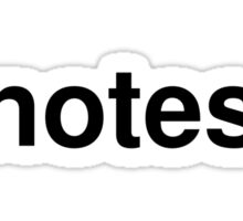 notes Sticker