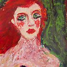 girl with red lips, 2010 by Thelma Van Rensburg
