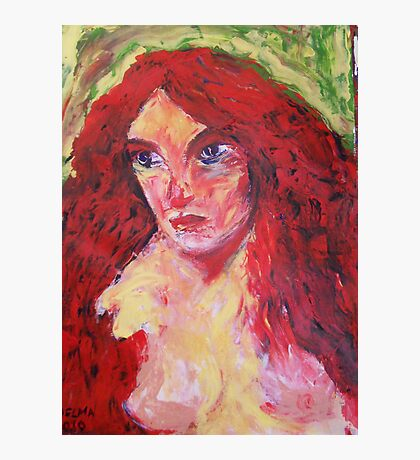 nude girl with red hair, 2010 Photographic Print