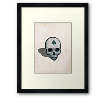 Vampire Skull, Ace of Spades Framed Print